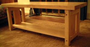 A maple coffee table