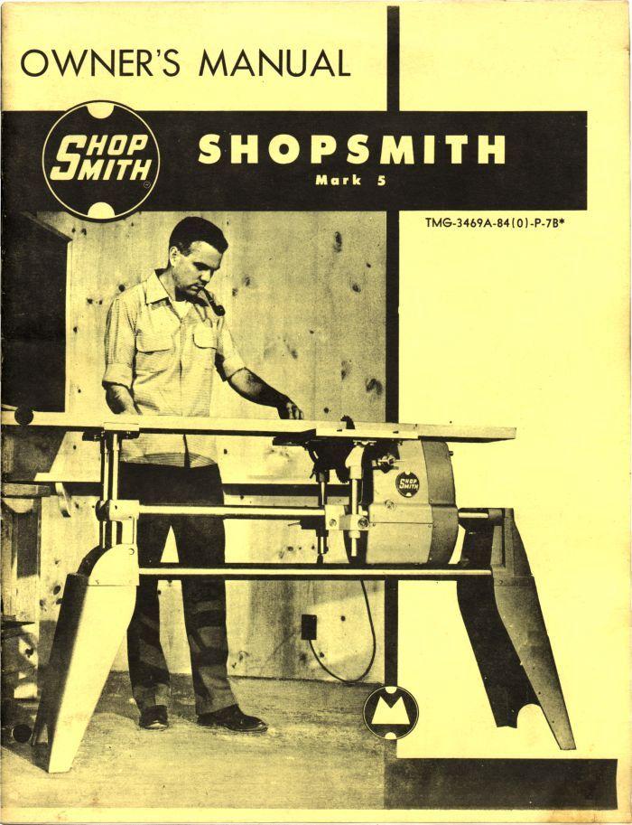 Shopsmith jointer manual.